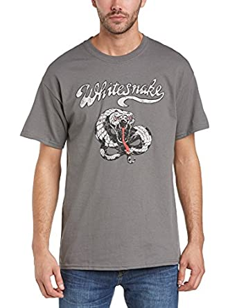 WHITESNAKE Men's Make Some Noise Short Sleeve T-Shirt, Grey (Charcoal), Small