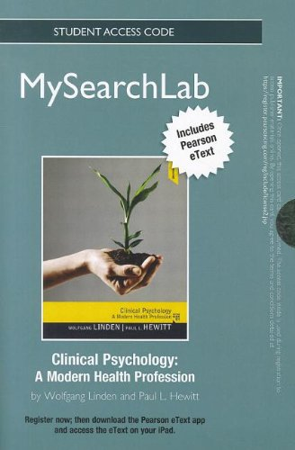 MySearchLab with Pearson eText - Standalone Access Card - for Clinical Psychology: A Modern Health Profession (MySearchL