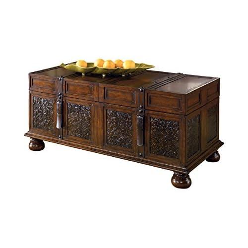 Signature Design by Ashley McKenna Cocktail Table with Storage, Dark Brown