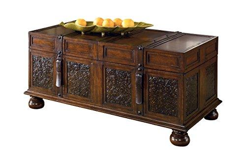 Signature Design by Ashley McKenna Cocktail Table with Storage, Dark Brown 0