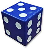 Childrens Soft Play Equipment Educational Giant Foam Dice in Blue