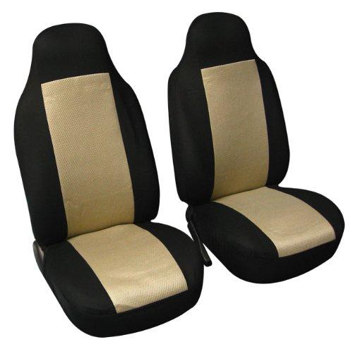 Pleasant Fh Fb102102 Classic Bucket Cloth Car Seat Covers Beige Black Spiritservingveterans Wood Chair Design Ideas Spiritservingveteransorg