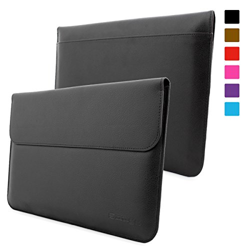 Fantastic Deal! Snugg Surface Pro 3 Case - Leather Sleeve with Lifetime Guarantee (Black) for Micros...