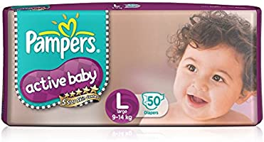 Pampers Active Baby Large Size Diaper (50 Count)