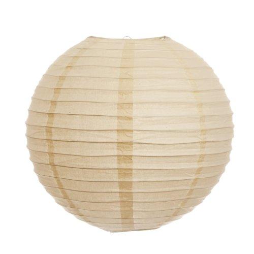 Koyal 8-Inch Paper Lantern, Ivory, Set of 6