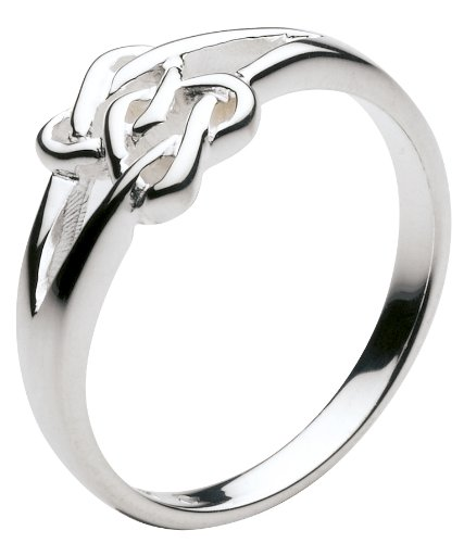 Heritage Sterling Silver Celtic Ring Lovers Heart