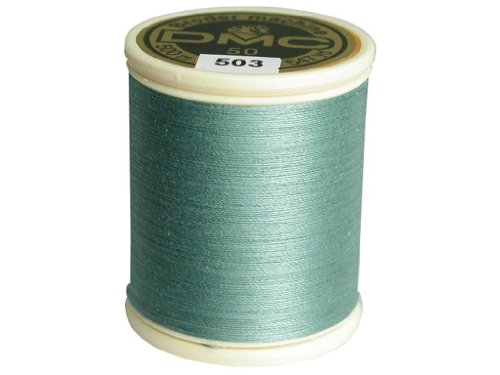 DMC 237A-50503 Cotton Embroidery Thread 50WT 547Yds Medium Blue Green (Embroidery Machine Thread Blue compare prices)