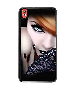 Fuson Gorgeous Girl Back Case Cover for HTC DESIRE 816 - D4059