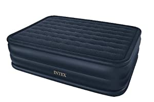 Intex Raised Downy Queen Airbed with Built-in Electric Pump by Intex
