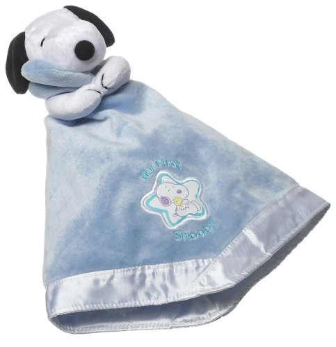 Baby Snoopy Cuddle Puppet Blanket in Blue