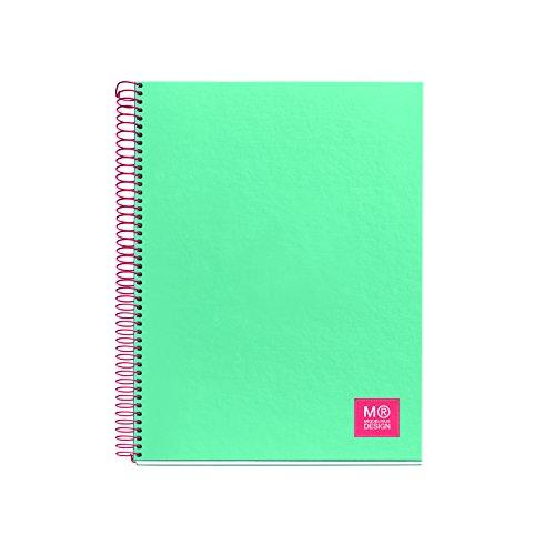 miquelrius-2733-cuaderno-1-color-a4-80-hojas-cuadricula-80-gramos-color-turquesa
