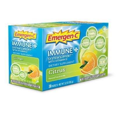 Alacer Emergen-C Immune Plus System Support, Citrus, 30 Count