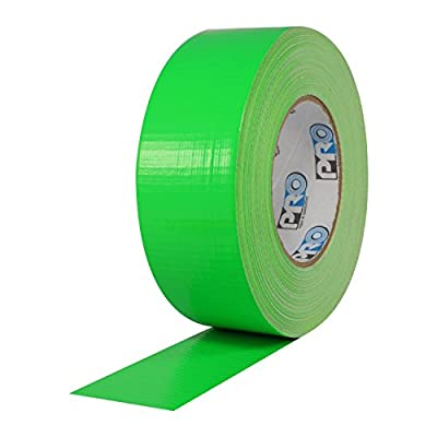 """ProTapes Pro Duct 139 PE-Coated Cloth Fluorescent Specialty Grade Duct Tape, 60 yds Length x 2"""" Width, Fluorescent Green (Pack of 1)"""