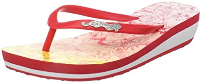 Ed Hardy Women's D'Air Flip Flop,Red-11SKM205W,6 M US