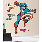 (18x40) Marvel Classic Captain America Peel and Stick Giant Wall Decals