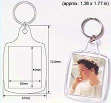 buy 50 Pcs Of Blank Clear Acrylic Keyring 35X45Mm Photo Insert Craft Keychain 95457