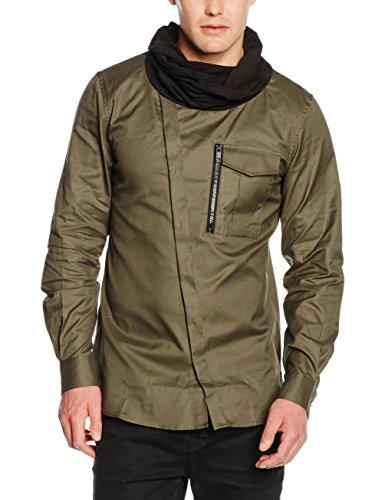 Antony Morato Camicia con Doppio Collo Sciarpa, Camicia da Uomo, Verde Loden, 48