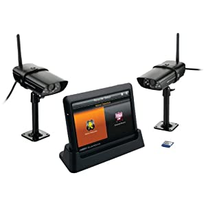 Uniden Guardian Advanced Wireless 7-Inch Screen Video Surveillance System with 2 Outdoor Cameras, Black (G755)