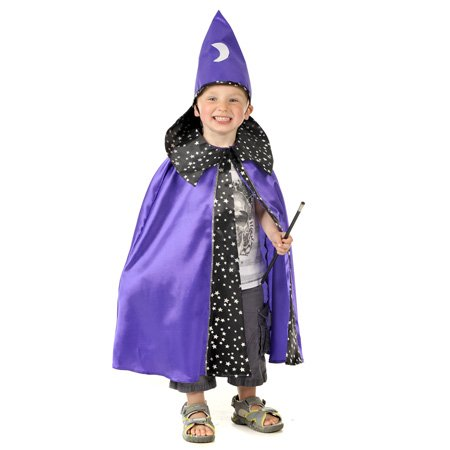 Halloween Wizard with Hat Fancy Dress Costume 3-7 years