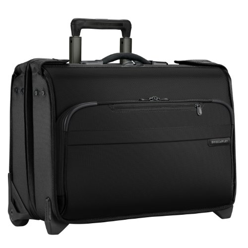 Briggs & Riley Luggage Baseline Carry-On Wheeled Garment Bag, Black, Small
