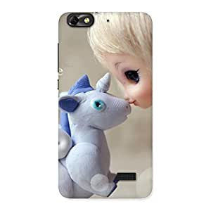 Delighted Lovely Cute Baby Girl Multicolor Back Case Cover for Honor 4C