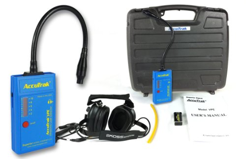 Superior Accutrak Vpe-Gn Pro Gooseneck Ultrasonic Leak Detector Professional Kit, Includes Vpe Leak Detector, Headset, Battery, Large Carry Case, Touch Probe, Waveguide, Noise Blocking Headphones