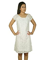 Women Sheath White Lace up Dress By Polta/ Stylish designer Lace up Party wear Dress For Ladies,Girls, women's/ Western Wear/party wear Dress