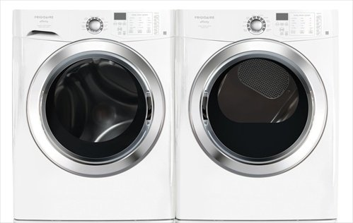 Frigidaire Affinity White 3.9 Cu. Ft. Front Load Washer and 7.0 Cu. Ft. ELECTRIC Dryer w/Ready Steam FAFS4174NW FASE7074NW