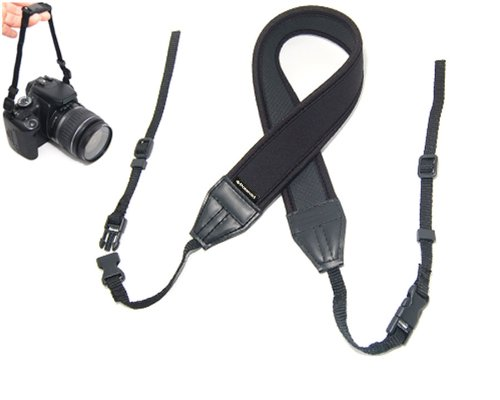 Polaroid Neoprene Adjustable Cushioned Neck Strap For Digital Slr, Cameras & Camcorders