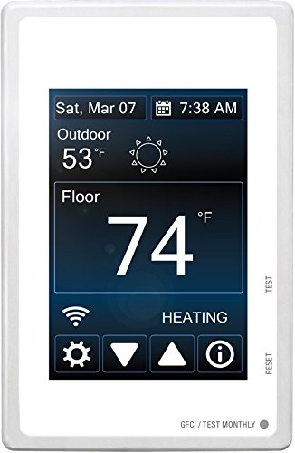 MasterHeat 500875 Programmable Wi-Fi Touchscreen In Floor Heating Thermostat (In Floor Heating Thermostat compare prices)