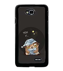 Miss U 2D Hard Polycarbonate Designer Back Case Cover for LG L70