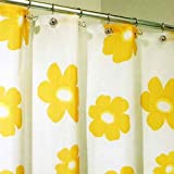 InterDesign Poppy Shower Curtain, Yellow
