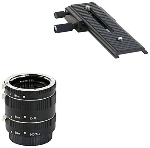 MAKROSET -   Automatik Zwischenringe 3-teilig     Zwei-Wege Makroschlitten für Canon EF   EF-S EOS 1200D  1100D  1000D  700D  650D  600D  550D  500D  450D  400D  350D  300D  100D  70D  60D  50D  40D  30D  20D  10D  7D  6D  5D Serie  1D Serie  D60  D30