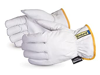 Superior 378GKTTL Endura Goatskin Leather Winter Driver Glove with Thinsulate Lined, Work, 2X-Large (Pack of 1 Dozen)