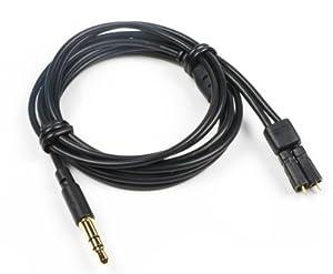 Ersatzkabel für Ultimate Ears triple.fi 10 VI mit Mikrofon und Sprechtaste, schwarz