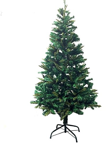 6-Ft-Premium-Canadian-Pine-Frasier-Fir-Green-Artificial-Christmas-Tree-Plush-Full-Unlit-With-Metal-Tree-Stand