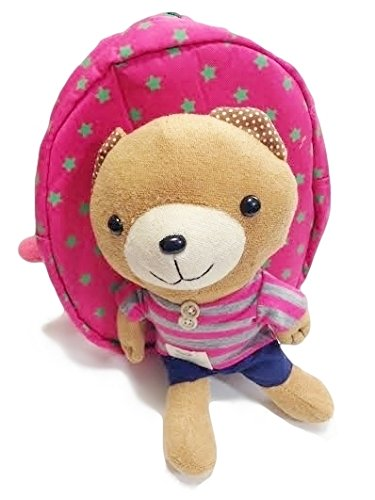 めちゃ可愛い!クマさん 迷子防止リュック/ハーネス付きリュック  オリジナルハンカチタオル付きセット【YTS】 (ピンク)