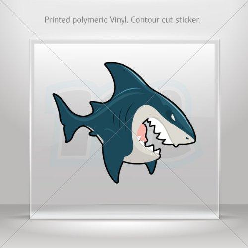 Decals Stickers Shark Attack Car Door Hobbies Waterproof Racing Durable Racing Motorbike 0500 W7W77 front-405793