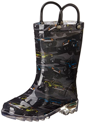 Western Chief Monster Crusher Rain Boot (Infant/Toddler/Little Kid),Charcoal,10 M Us Toddler front-1025740