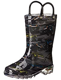 pictures of Western Chief Monster Crusher Rain Boot (Toddler/Little Kid), Charcoal