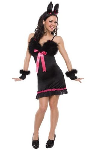 Pretty Bunny Costume Blk/Fuschia Medium/LG