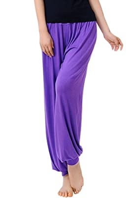 Ninimour- Womens Yoga Herem Pants Belly Dance Fitness Workout Pants