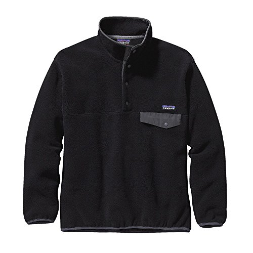 Patagonia Synchilla Snap-T Fleece Pullover - Men's Black/Forge Grey Large
