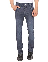 SAVON Mens 16112_03 Slim Fit Blue Stretch Denim Jeans For Men 30