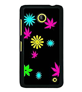 printtech Flower Weed Pattern Back Case Cover for Nokia Lumia 630