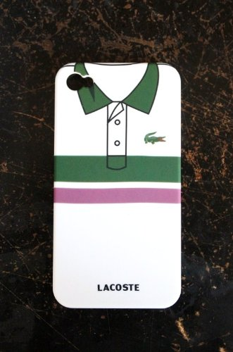 Crocodile Green Stripe T-Shirt Style Plastic Skin Case Cover for iPhone 4