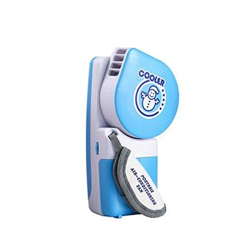 Pupazzo di neve USB Mini portatile Palm aria condizionata ventola di raffreddamento (Rosa)