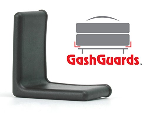 "Big Save! 1 1/2"" GashGuards: Deluxe Plastic Bed Frame End Caps, Sheet Savers, Set of 2"