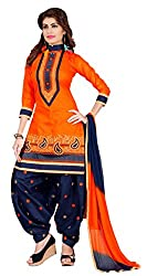 S.B CREATION Women's Cotton Resham Anarkali Unstitched Salwar Suits Dress Material