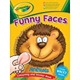 Crayola Funny Faces Colouring And Sticker Book Animal